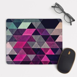 Pink Abtract Geometric Pattern Mouse Pad Round or Rectangle