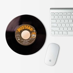 Gramophone Record Music Mouse Pad Round