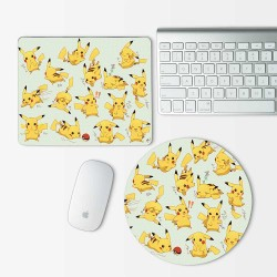 Pikachu Pokemon Mouse Pad Round or Rectangle