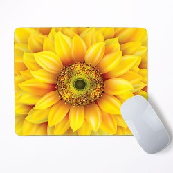 Sunflower Helianthus Mouse Pad Round or Rectangle