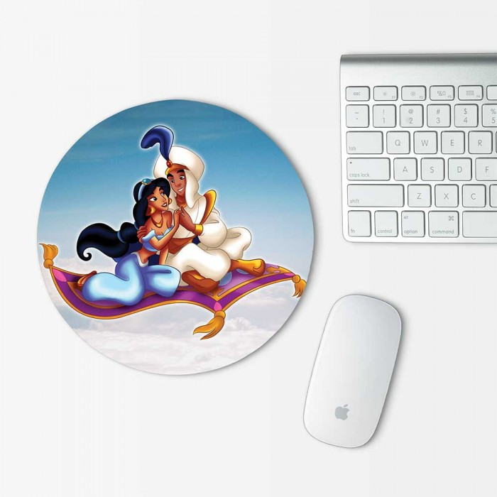 Disney Princess Jasmine and Aladdin Mouse Pad Round (MP-0059)