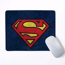 Superman Logo Mouse Pad Round or Rectangle