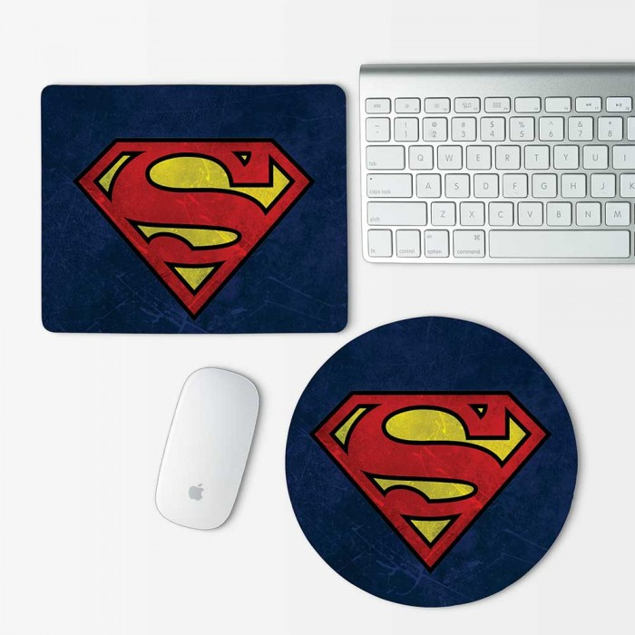 Superman Logo Mouse Pad Round or Rectangle (MP-0064)