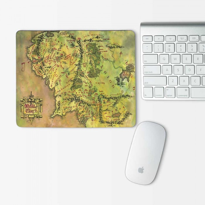 Map of Middle Earth Hobbit Lord of the Rings Mouse Pad Rectangle (MP-0066)