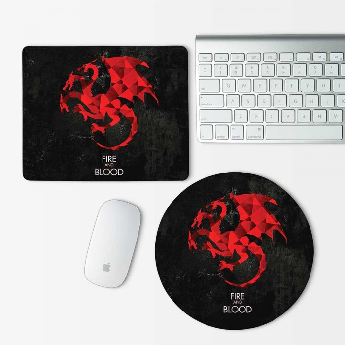 Targaryen Game of Thrones Fire and Blood Mouse Pad Round or Rectangle (MP-0068)