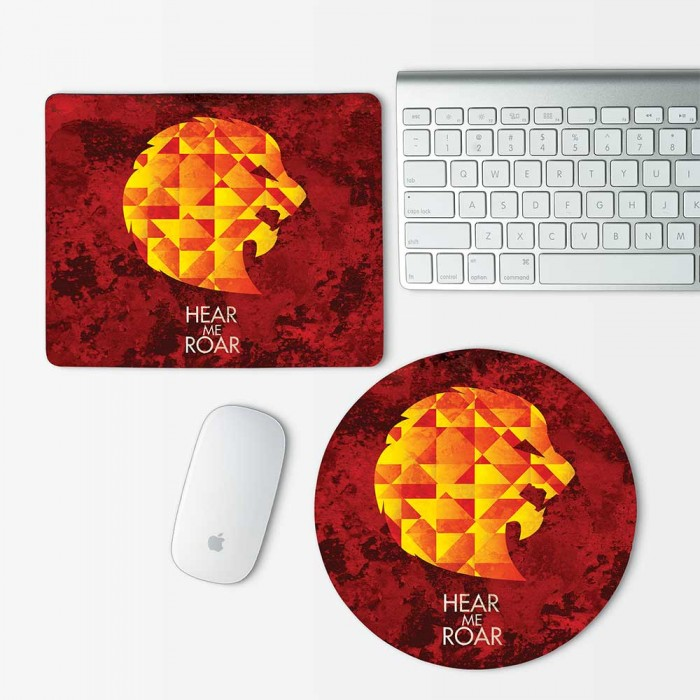 Lannister Game of Thrones Hear Me Roar Mouse Pad Round or Rectangle (MP-0069)