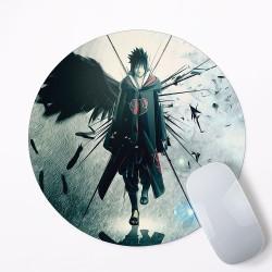 Uchiha sasuke Naruto Mouse Pad Round or Rectangle
