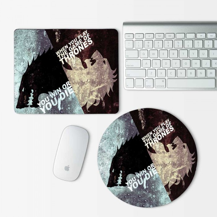 Stark Game Of Thrones Mouse Pad Round or Rectangle (MP-0073)