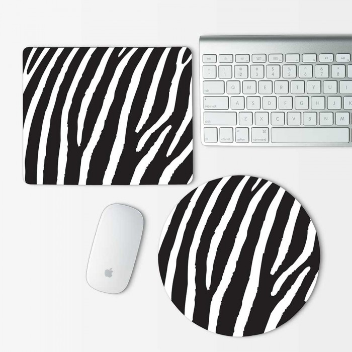 Zebra Animal skin Mouse Pad Round or Rectangle (MP-0078)