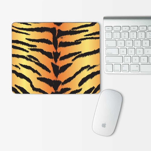 Tiger Animal Skin Mouse Pad Rectangle