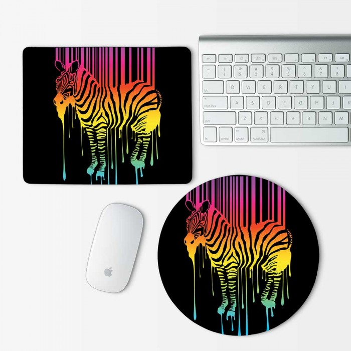 Zebra Abstract Mouse Pad Round or Rectangle (MP-0085)