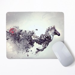 Abstract Zebra Mouse Pad Round or Rectangle