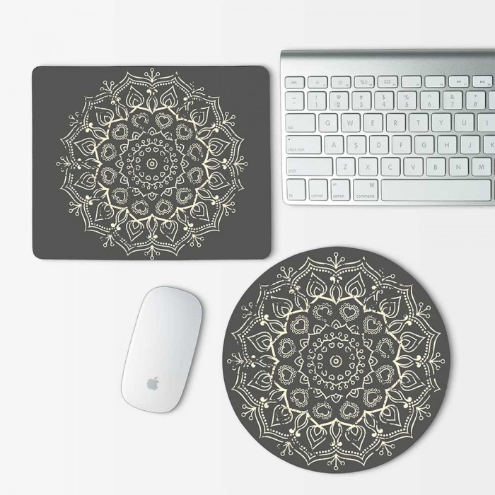 Indian Mandala Mouse Pad Round or Rectangle (MP-0089)