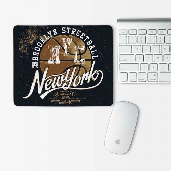 Basketball N Y C Newyork Mouse Pad Rectangle (MP-0093)