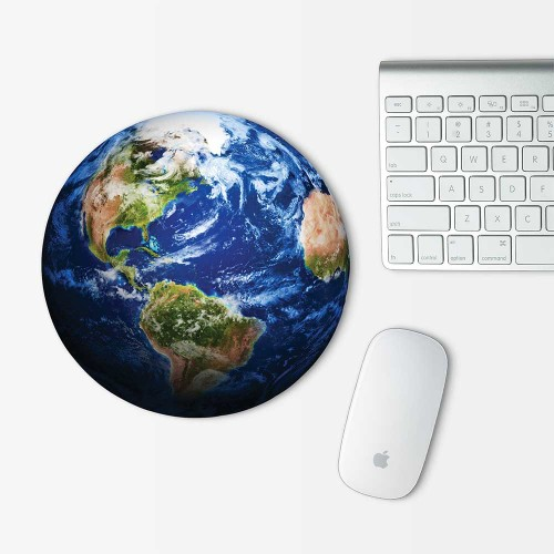 Earth Globe Mouse Pad Round