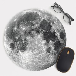 Moon v.1 Mouse Pad Round