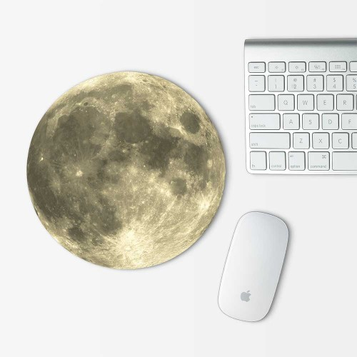 Moon v.2 Mouse Pad Round