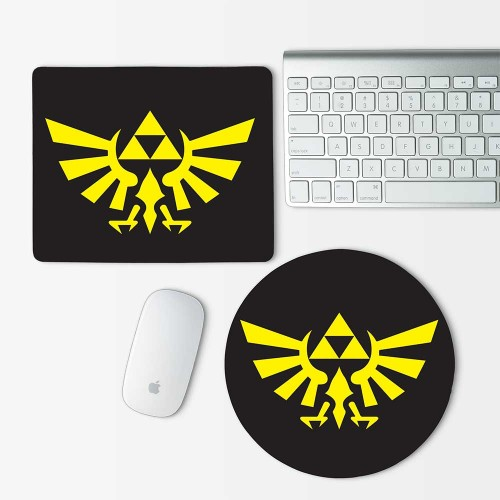 Legend of Zelda Triforce Mouse Pad Round or Rectangle