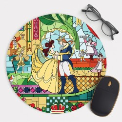 Beauty and The Beast  Mouse Pad Round