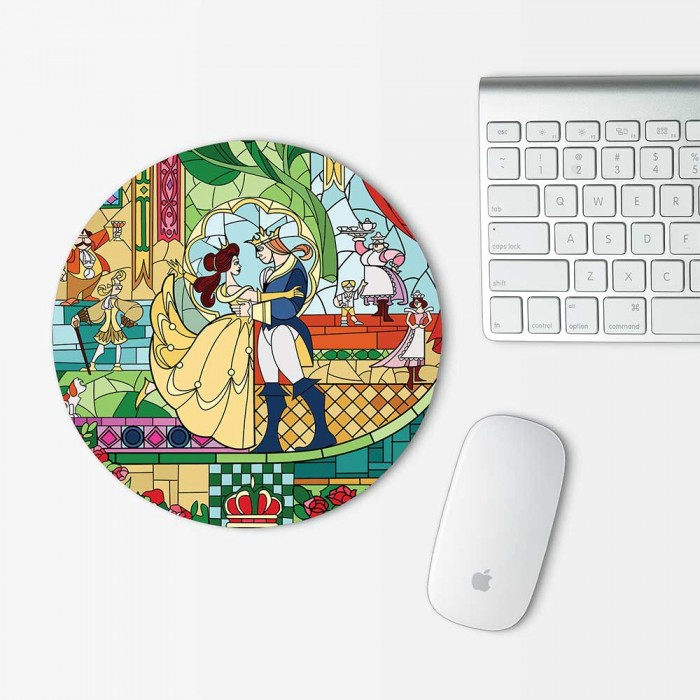 Beauty and The Beast Mouse Pad Round (MP-0103)