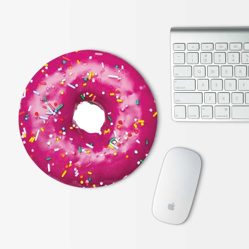Strawberry Donut Mouse Pad Round