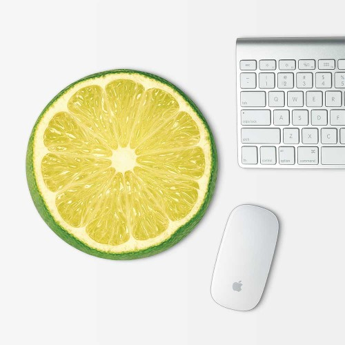 Lime lamon Mouse Pad Round