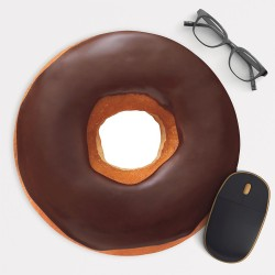 Donut Chocolate Mouse Pad Round