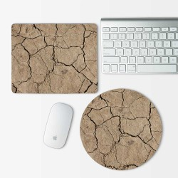 Sand Cracks Mouse Pad Round or Rectangle