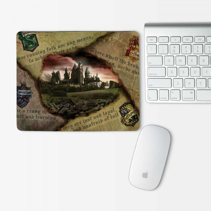 Harry Potter Hogwarts Mouse Pad Rectangle (MP-0123)