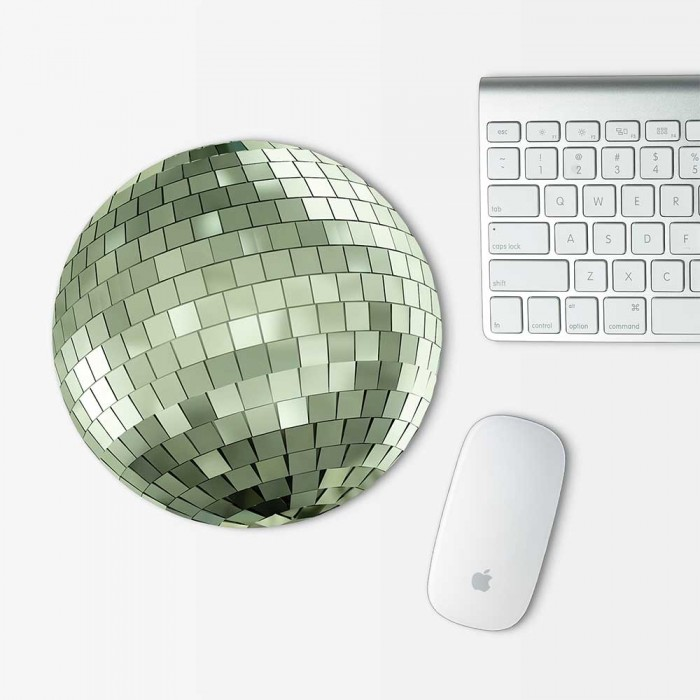 Disco Ball Mouse Pad Round (MP-0128)