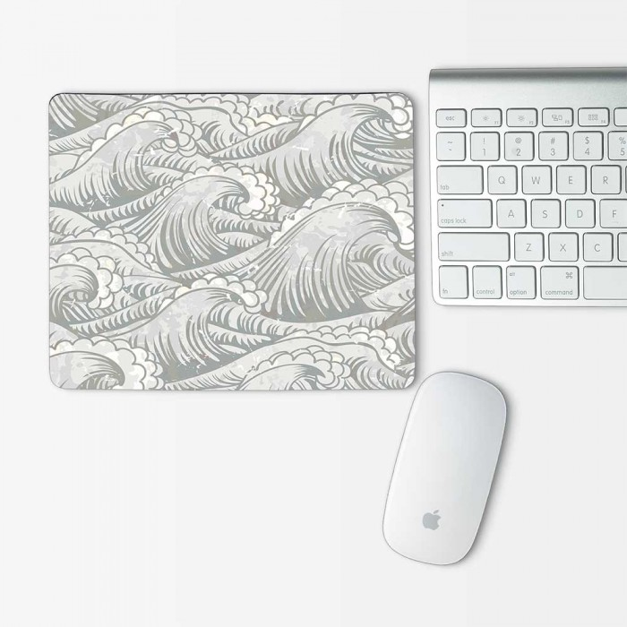 Vintage Ocean Waves Mouse Pad Rectangle (MP-0131)