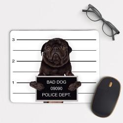 Pug Dog Mugshot Mouse Pad Rectangle