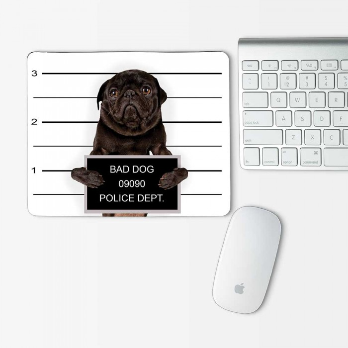 Pug Dog Mugshot Mouse Pad Rectangle (MP-0132)