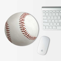 Baseball Mouse Pad Round