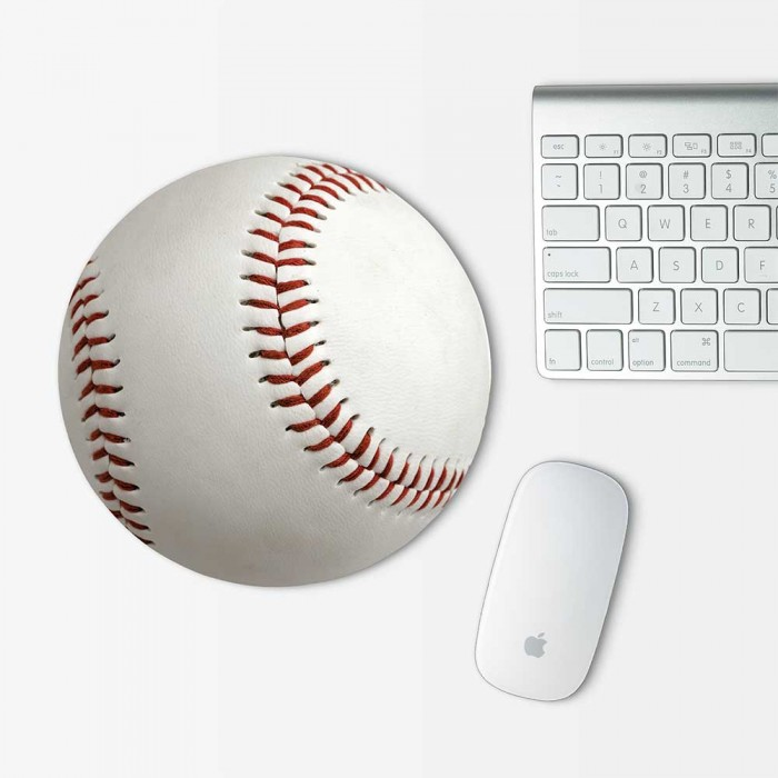 Baseball Mouse Pad Round (MP-0136)