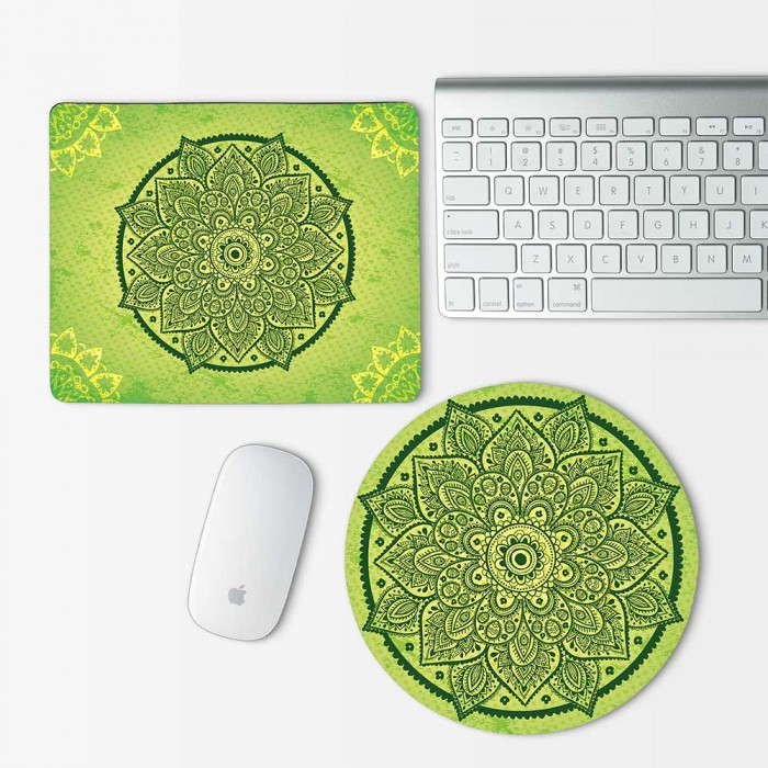 Flower mandala Mouse Pad Round or Rectangle (MP-0143)