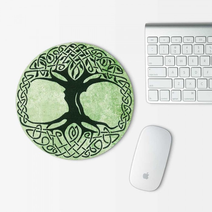 celtic tree of life mouse pad round