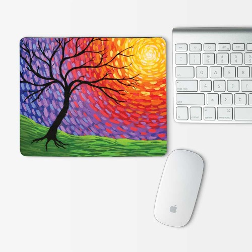 paint tree  Mouse Pad Rectangle