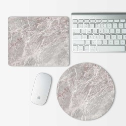 Gray Marble  Mouse Pad Round or Rectangle